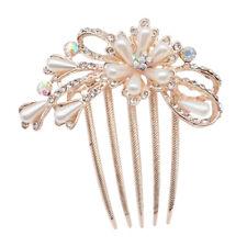 Peine de Pelo Horquilla Accesorios de diamantes de imitación de mujer Flor Boda Cristal Headwear