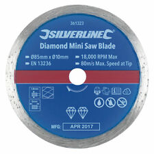 MINI DIAMOND CIRCULAR SAW BLADE 85 X 10MM BY SILVERLINE