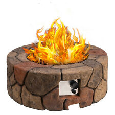 Outdoor Fire Pit Grill Round Patio Fire LARGE Outdoor Propane Fire Pit Table