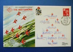 1989 25TH ANNIVERSARY RED ARROWS BIGGIN HILL AIR FAIR 1987 MULTI SIGNED COVER