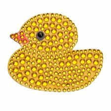 Rhinestone Sticker Decal Yellow Rubber Ducky 2 inch bling free shipping