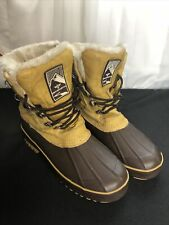 Creative Recreation Women's Leather Duck Boots in Tan / Brown Size 9