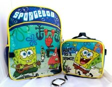 Spongebob Patrick School Backpack Book bag Insulated Lunch Box SET Kids Toy Gift