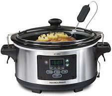 Hamilton Beach 33969 Set & Forget Digital 6 Qt Programmable Slow Cooker Crockpot