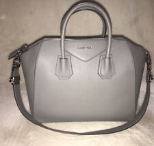 Givenchy Antigona Leather Bag Pearl Gray Excellent Condition Est. Retail $2450
