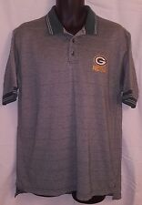 Green Bay Packers Striped Micro Stitch Coach's Polo Shirt GC - Mens Large