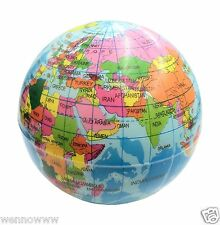 World Atlas Geography Map Earth Globe Stress Relief Bouncy Foam Ball Toy