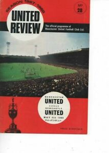 Manchester United v Newcastle United 1967/68 Division 1 complete with token