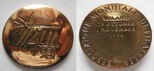 medaglia esposizione mondiale di filatelia Milano 1998 2° tipo bronzata