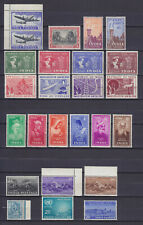 INDIA 1948-1954  25 STAMPS, MNH (22), MLH (3), COMPLETE SETS