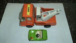 Tin Tow Truck and Tonka Dune buggy