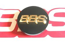 1 BBS 80mm BLACK GOLD 3D LOGO 3 TAB CENTER CAP  56.24.038 or 56.24.039 RC RSII