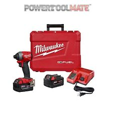 "Milwaukee M18FID2-502X FUEL 1/4"" Impatto Guidatore Kit con 2 BATTERIE 5.0Ah"