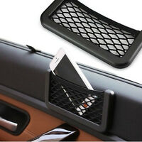 Black Auto Car String Bag Storage Mesh Resilient Pouch Pocket Organizer Holder D