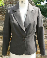 MINUET PETITE BROWN/MARL WOOL/BLEND TAILORED JACKET SIZE 12