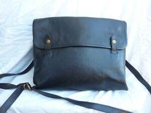 Sac Il BISONTE noir cuir besace sacoche vintage