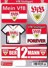 VfB Stuttgart Set mit 5 Aufkleber Bogen A5 neu & ovp Sonderverkauf Angebot