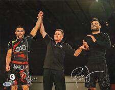 Ralek Gracie Signed 11x14 Photo BAS Beckett COA Metamoris Jiu-Jitsu w Gary Tonan