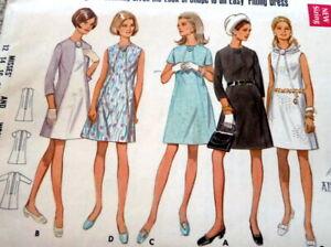 LOVELY VTG 1960s DRESS BUTTERICK Sewing Pattern BUST 42