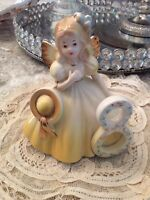 Josefs Original Birthday Age 8 Girl With Hat Wings porcelain