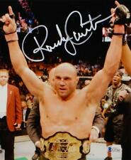 2dde474aad0 Randy Couture Autographed UFC 8x10 Photo With Belt- Beckett Auth  White