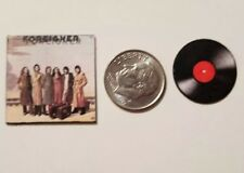 "Miniature Dollhouse record album Barbie 1/12 1"" Foreigner Rock Greatest Hit"