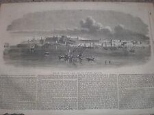 Valetta malta from the Quarantine Harbour 1854 old print