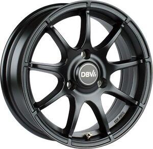 Smart Fortwo 451 Alloy Wheels 15´´ Inch DBV Bali. Black Matte Black New, Boxed