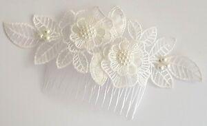 Wedding Bridal Women Girl Hair  Accessories Off White Hair Comb Headpiece Clip