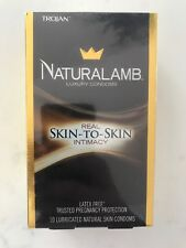 Trojan Natural Lamb Luxury Lubricated Skin Condoms 10 CT. Exp 2021 Or Later