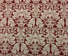 """LACEFIELD DESIGNS CHARLOTTE SANGRIA RED FLORAL DAMASK FABRIC BY YARD 54""""W"""