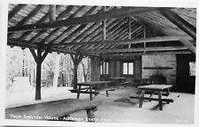 W.M. Cline RPPC Postcard Main Shelter House Audubon, Henderson Kentucky 3-B-97