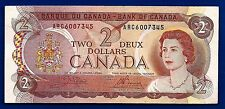 1974 CANADA two 2 DOLLAR BILL NOTE prefix ARC CRISP AU-UNC