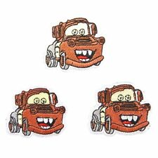 Disney's Cars Movie Mater the Truck Figure Embroidered Patch Set of 3