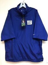 NWT NIKE NEW YORK GIANTS On Field Apparel 1/2 Zip S/S Pullover Windbreaker L