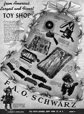 FAO Schwarz Toys PLAYTOWN TRAIN Baby Doll Christening Dress 1947 Print Ad