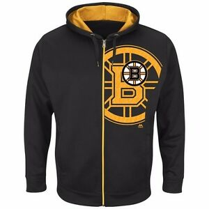 NHL Hoody Boston Bruins Interference Zip Jacket Hooded Sweater
