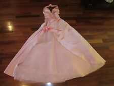 LADIES LONG PINK PRINCESS GOWN W RHINESTONES HALTER SIZE 8 MINT COND