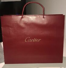 NEW Authentic Cartier Genuine Paper Shopping Gift Bag Extra Large