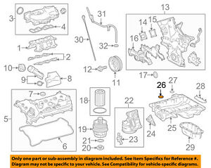 TOYOTA OEM 16-18 Tacoma 3.5L-V6 Engine-Upper Oil Pan O-ring 90301A0061