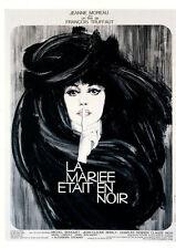 101 CARTE POSTALE film LA MARIEE ETAIT EN NOIR de F Truffaut avec Jeanne Moreau