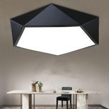 Modern LED White Black Ceiling Light Acrylic Chandelier Light Bedroom Livingroom