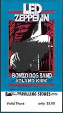 Led Zeppelin Rolling Stones Bg 199 Fillmore Winterland Concert Ticket 1969