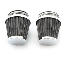 Chrome Pod Air Filter - 50mm Set of 2 - Honda CB350 CB360 CB450 CB500T CB CL
