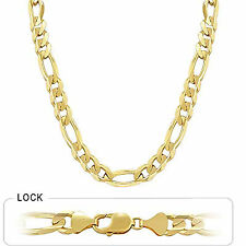 "165.80gm 14k Solid Gold Yellow Men's Figaro Chain Heavy Necklace 26"" 14.00mm"