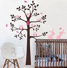 Wall stickers custom colour xlarge owl tree bird rabbit decal home vinyl kids