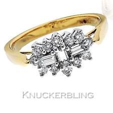 Baguette Cluster Yellow Gold 18 Carat Fine Diamond Rings