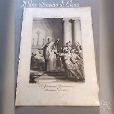 2-S Stampa-incisione ottocentesca - San Giovanni Grisostomo arcivescovo e dott