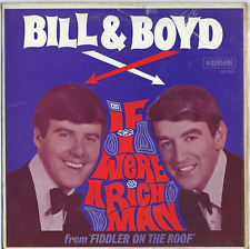 "BILL and BOYD    ""If I Were A Rich Man""   Rare P/C Sunshine 45 EP Vinyl"