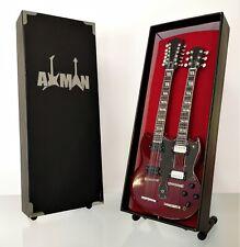 (Led Zeppelin) Jimmy Page: Doubleneck - Miniature Guitar Replica (UK Seller)